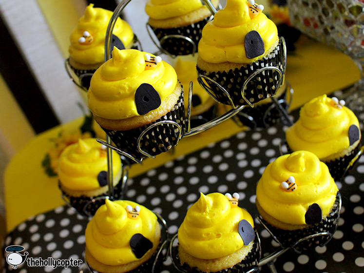 For The Cupcakes I Used Pre Made Bee Decorations By Wilton And Little Doors To Hive Using Black Candy Melts Were Lemon Flavored